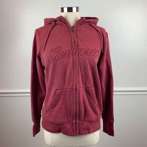 Carhartt   Red Full Zip Hoodie